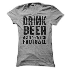 Drink Beer And Watch Football Funny Women's T-Shirt D1