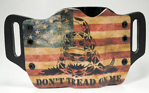 Don#x27;t Tread Snake Flag OWB Kydex Holster For 1911 Beretta Bersa amp; Browning $38.24