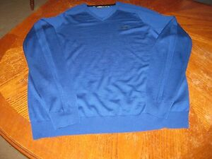 Under Armour Men's Merino Wool V-Neck Sweater Royal Blue XL-Tall Loose Coupe