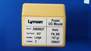 LYMAN Pistol DC Mould Double Cavity 9mm - NEW