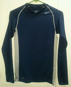 Nike Pro Fit Dry Blue Long Sleeve Shirt  Youth Kid's Size-S