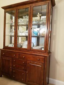 Amish Made Solid Cherry China Cabinet Hutch