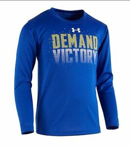 T Shirt Under Armour Graphic Print For Little Boys Long Sleeves Size 4 5 6 7