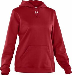 Under Armour Womens Armour Fleece Team Hoodie in ColdGear Fabric XX-Large Red