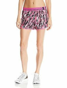 Under Armour Womens Printed Perfect Pace Short Rebel PinkRebel Pink X-Small