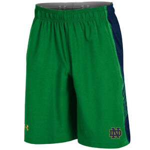 Under Armour Notre Dame Fighting Irish Green Woven Training Shorts - College