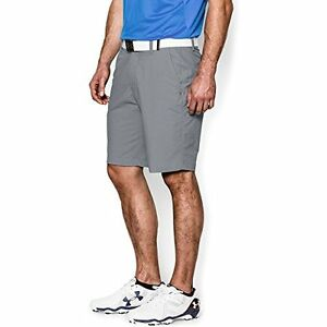Under Armour Mens Match Play Shorts  Steel True Gray Heather  34