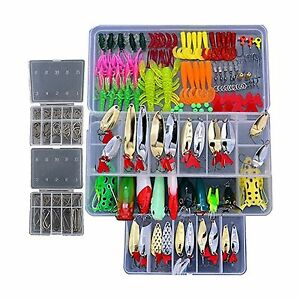 Bluenet 228 Pcs Professional Fishing Lures Tackle Kit Including... Free Shipping
