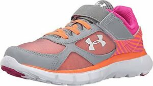 Under Armour 1265296-035 Girls UA GPS Velocity RN AC (Little Kid) SteelRebel