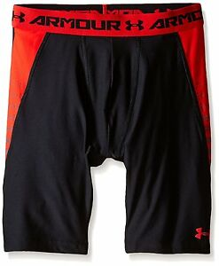 Under Armour Boys HeatGear Armour Up Fitted Shorts – Long BlackRisk Red