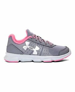 Under Armour 1275528-040 Girls Pre-School UA Speed Swift Grit Running Shoes 1