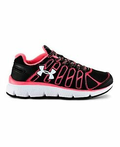 Under Armour 1258006-001 Girls Pre-School UA Pulse II Grit Running Shoe 12K