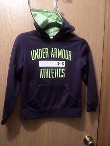 Boys Under Armour Navy Hoodie  Size  7-8  YS