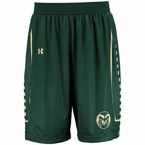 Under Armour Colorado State Rams Green Replica Basketball Performance Shorts