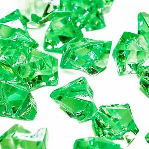 Apple Green Acrylic Crushed Ice Rocks Chips Cubes Crystal Shards Table Scatter