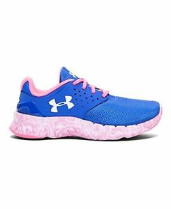 1272824-400 Under Armour Girls Pre-School UA Flow Swirl Running Shoes 11K TEAM