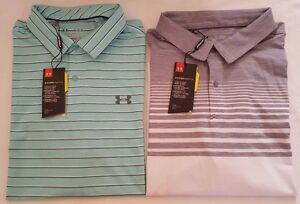 NWT UNDER ARMOUR MEN'S COOL SWITCH  LOOSE FIT POLO GOLF SHIRTS  XL 2XL
