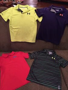 Lot Of EUC Under Armour Boys Golf Shirts Size Youth Small
