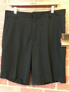 NWT Sz. 34 NIKE TIGER WOODS COLLECTION GOLF SHORTS Black Stretch