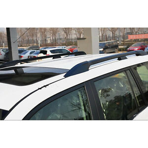 Black Roof Rack Side Rails Bars Luggage Carrier For Toyota Prado FJ120 2003-09