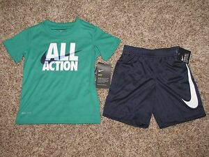 NIKE BOYS SHIRT SHORTS SET 18 24 MONTHS 2T DRI-FIT