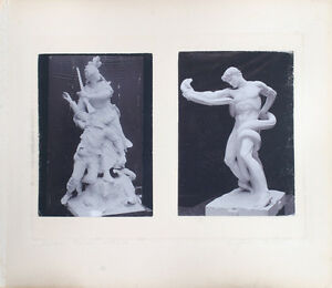SET OF TWO ALBUMEN PHOTOS OF STUNNING MARBLE SCULPTURES $49.76
