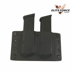 Fits: Glock 9MM/.40 Cal OWB Double Stacked Kydex Mag Pouch Glock 17,19,22,23