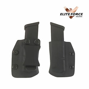 Fits Glock 9MM 40 Cal IWB Double Stacked Kydex Mag, Magazine Pouch 17,19,22,23