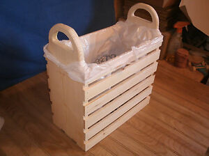 wood Quilting basket wood sewing basket wood crate wooden crate $19.50