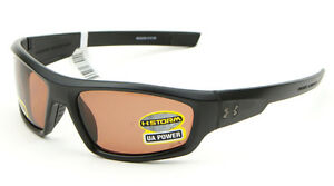 Under Armour POWER STORM Sunglasses - Satin BlackBrown Polar 8630026-010128