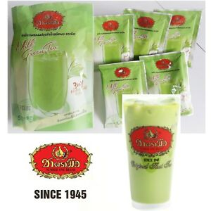 Thai Iced Hot Milk Green Tea Instant Powder 3 in 1 Thai Tea Number one Brand