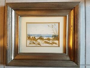 Framed and Signed Rita Smith Seascape Original Art Work on Matted Paper $69.99