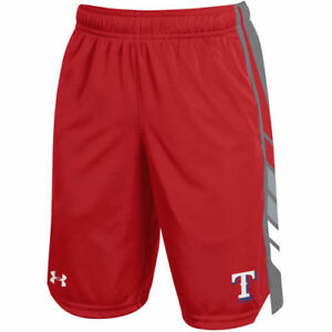 Under Armour Texas Rangers Youth Red Select Shorts - MLB