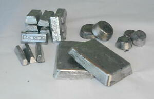 Lot Of 30 Pounds Bullet Casting  Lead Ingots or fishing weights