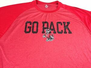 NC State Wolfpack Shirt Dri-Fit Mens 2XL Go Pack North Carolina St Fitness Gym