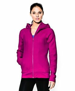 Under Armour Womens UA ColdGear Infrared Full Zip HoodieMAGENTA SHOCK