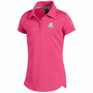 Under Armour Girls Youth Pink 2018 Ryder Cup Leader Polo - Golf