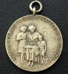 URUGUAY 1913 ANTIQUE HULA HOOP PHYSICAL EDUCATION CULTURAL INAUG. SQUARE