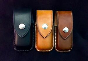 Handmade Leather Case Sheath For The Leatherman Wave Charge New Closed Top