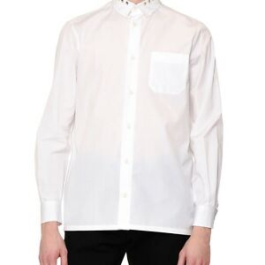 VALENTINO MENS ROCKSTUD-COLLAR LONG-SLEEVE SPORT SHIRT