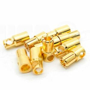5 Pairs 6mm Bullet Connector Gold Plated 100A+ RC Drone Truck Plane Boat