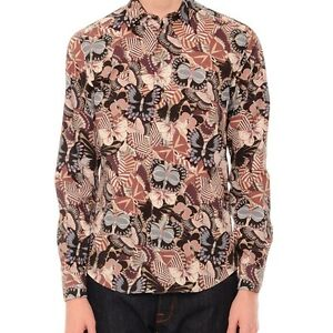 VALENTINO MENS CAMU BUTTERFLY LONG-SLEEVE SPORT SHIRT