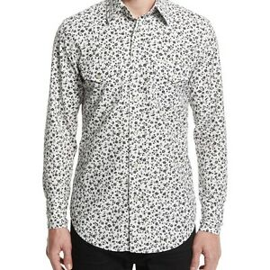 TOM FORD MENS WESTERN-STYLE TAILORED PANSY-PRINT SPORT SHIRT
