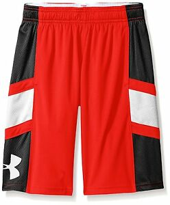 Under Armour Boys Crossover Basketball Shorts Risk RedBlack Youth X-Small