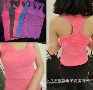 New Women Quick Dry Vest Fitness Gym Running Yoga Tank T-Shirt Simple Sportswear