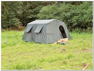 Military Army Outdoor Large BaseCamp Tent Shelter 6 Person - Olive - Factory New