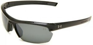 Under Armour Under Armour Stride XL Rectangle Sunglasses Shiny Black Polarized