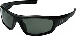Under Armour Unisex UA Power Polarized Satin Black Sunglasses