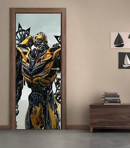 Transformers Bumblebee Autobot DOOR WRAP Removable Decal Wall Sticker Mural D174
