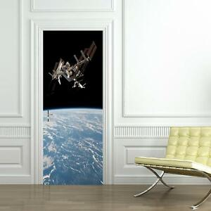 Earth From Space DOOR WRAP Removable Decal Wall Sticker Mural Sattelite D166